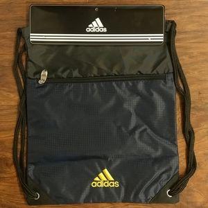 Adidas Navy Blue Drawstring Backpack NEW